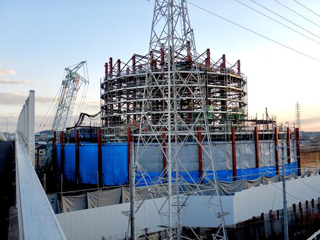 建設中のリニア中央新幹線 神領非常口(2021年2月2日) - 2