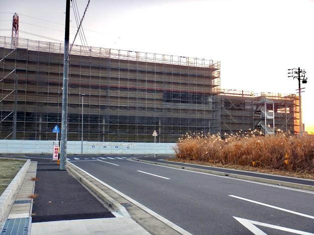 建設工事中のコストコ ホールセール守山倉庫店(2021年2月6日) - 6