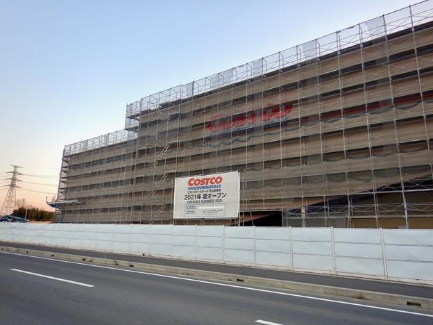 建設工事中のコストコ ホールセール守山倉庫店(2021年2月6日) - 7