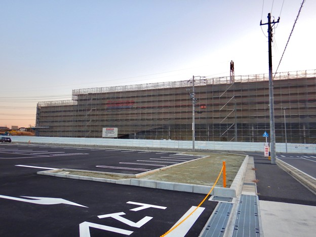 Photos: 建設工事中のコストコ ホールセール守山倉庫店(2021年2月6日) - 4
