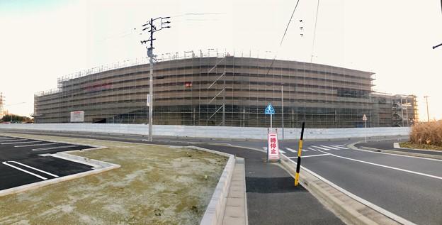 建設工事中のコストコ ホールセール守山倉庫店(2021年2月6日) - 21:パノラマ