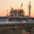 建設中のリニア中央新幹線 神領非常口(2021年2月7日)