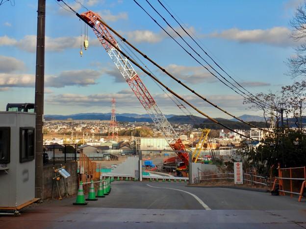足場がなくなって更地の様にになっていたリニア坂下非常口工事現場(2021年2月9日)- 1