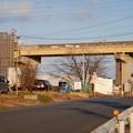 桃花台線の桃花台西・上末駅間高架撤去工事(2021年2月10日) - 3