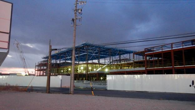 建設工事中の旧・ザ・モール春日井跡地の商業施設(2021年2月13日) - 2
