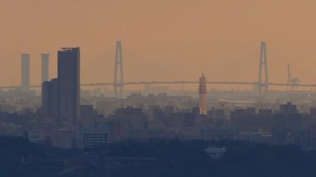 西高森山山頂から見た名港中央大橋 - 2