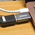 Photos: BENFEIのUSB type-C to USB type-A(USB 3.0)アダプタ - 8:Macbook Air接続時