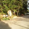 写真: 児神社入り口にある石碑