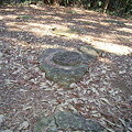 写真: 大山廃寺跡に残る塔の礎石