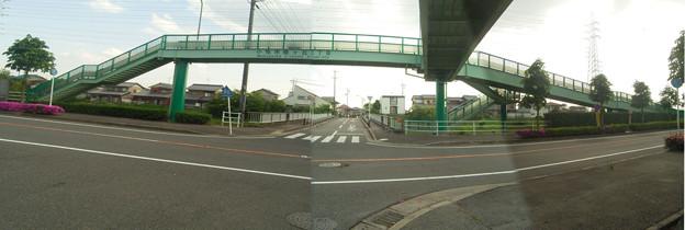 写真 無意味な歩道橋_桃ヶ丘2・3(パノラマ)
