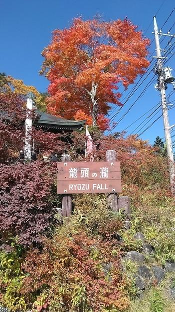 「竜頭の滝」看板