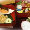 写真: 鮭の西京焼き他