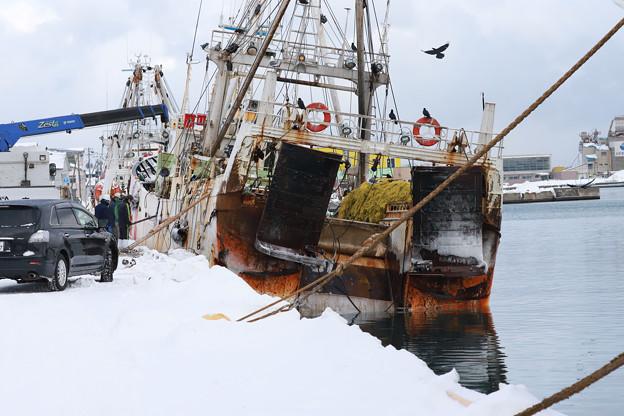 漁船(オッター)の修理1