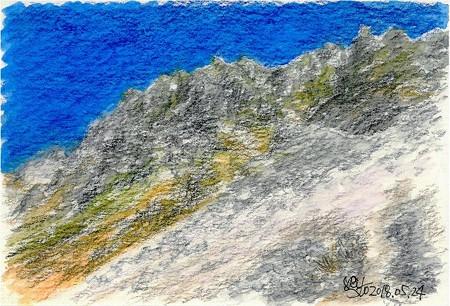 20180524大山南壁(残雪)