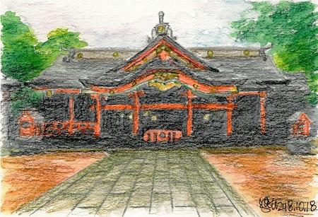 20181018青島神社(雨)