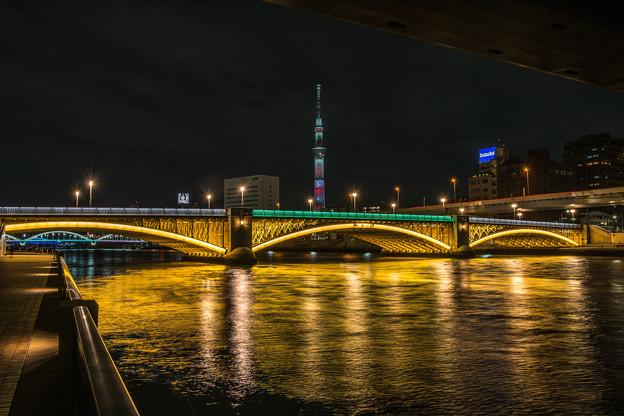 スカイツリーと蔵前橋