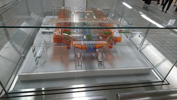 久屋大通駅の断面模型