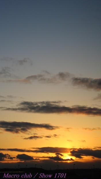 2018.01.24 の空 015 夕陽のタペストリー