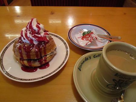 シロノワールとカフェオレ