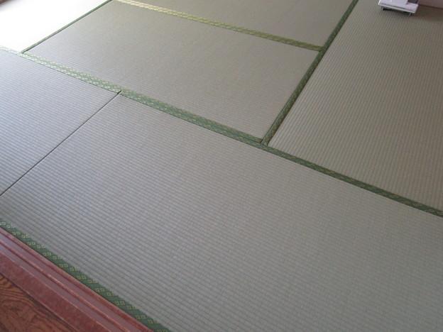 和紙の畳に変えた