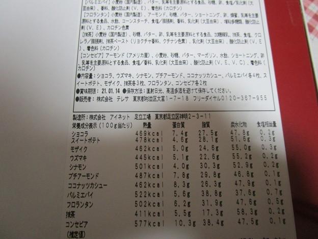 細かい栄養成分表