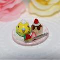 Photos: n011ミニチュア/いちごカップケーキプレート/セキセイ・グリーン
