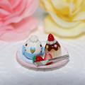 Photos: n012ミニチュア/いちごカップケーキプレート/セキセイ・ブルー
