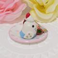 Photos: n014ミニチュア/いちごカップケーキプレート/セキセイ・白ハルクイン(横1)