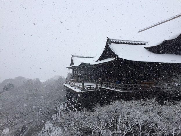 下雪的清水寺