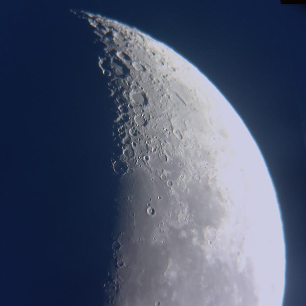 月齢23.6の月面南部(2020/01/19)