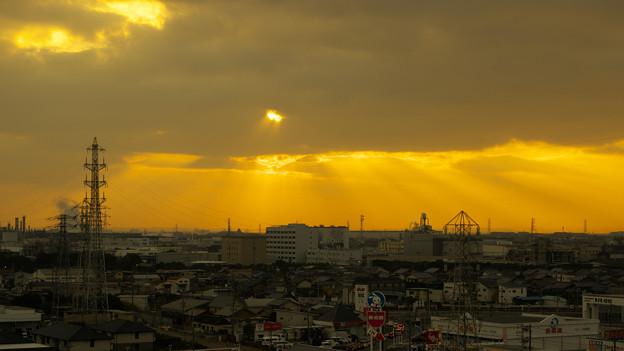 いい色になってきた朝の景色