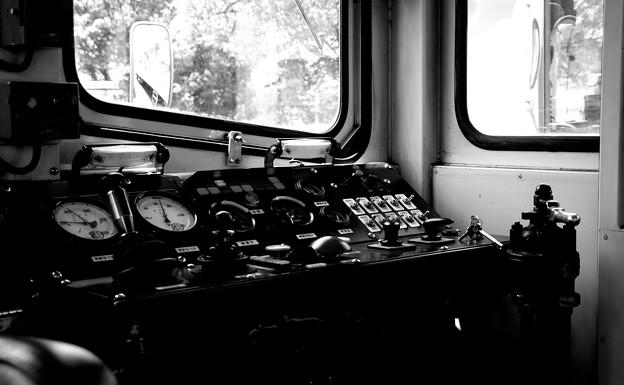 南阿蘇鉄道トロッコ列車の運転席