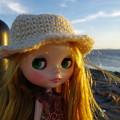 写真: 夕日とワタシどっちが綺麗か言ってみて・・