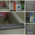 Photos: 浴槽内ガラス磨き