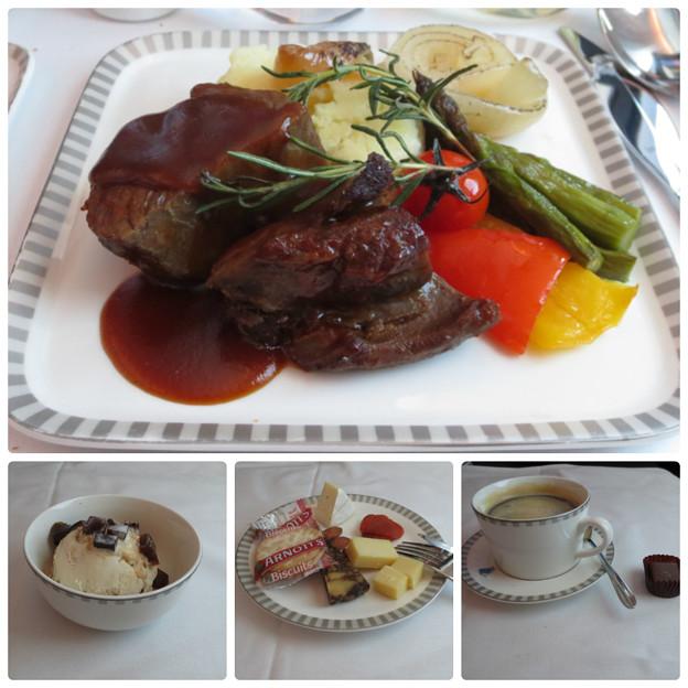 シンガポール航空 機内食 後半