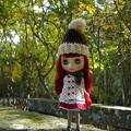 Photos: 手編みの帽子&マフラー