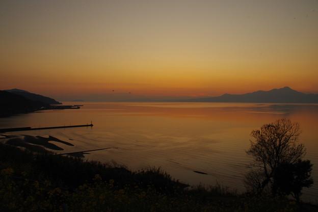 おこしき海岸の夕暮れ
