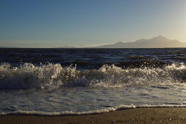 波のあるエリカの海