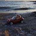 海辺をドライブ