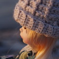 Photos: ワッフル編みで帽子作ってみました!