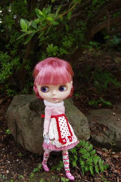 ピンクと赤のコーディ(^^♪