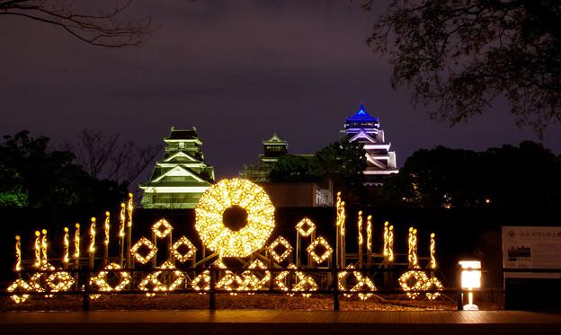 熊本城 夜間ライトアップ