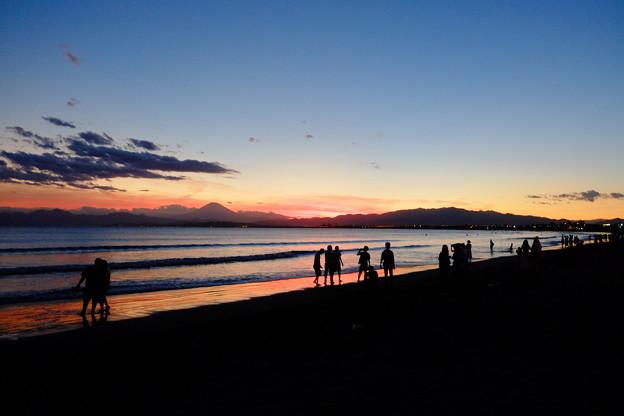 写真: 片瀬西浜海岸