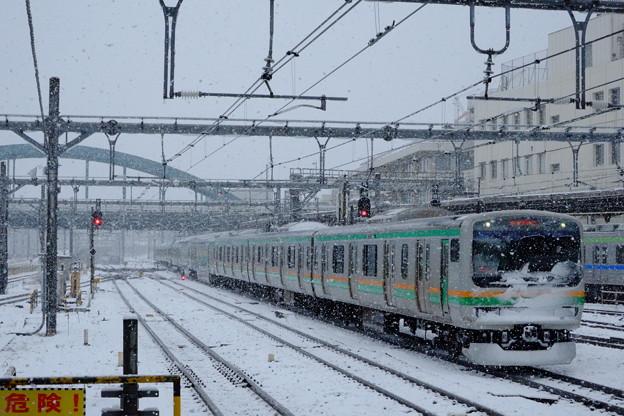 雪の大宮駅から