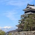 Photo: アルプスと松本城