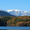 雪山と湖水(白馬)1