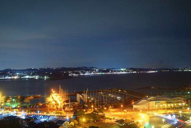 湘南港と七里ヶ浜方面な夜景 #湘南 #藤沢 #海 #波 #江ノ島 #enoshima #夜景 #nightview