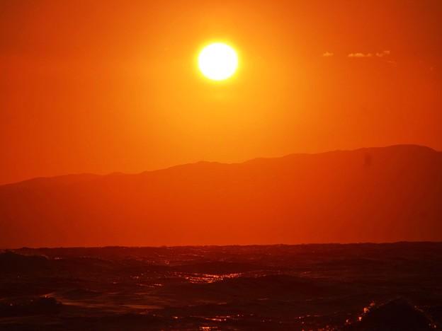 湘南・鵠沼海岸の夕日 #湘南 #藤沢 #海 #surfing #wave #mysky
