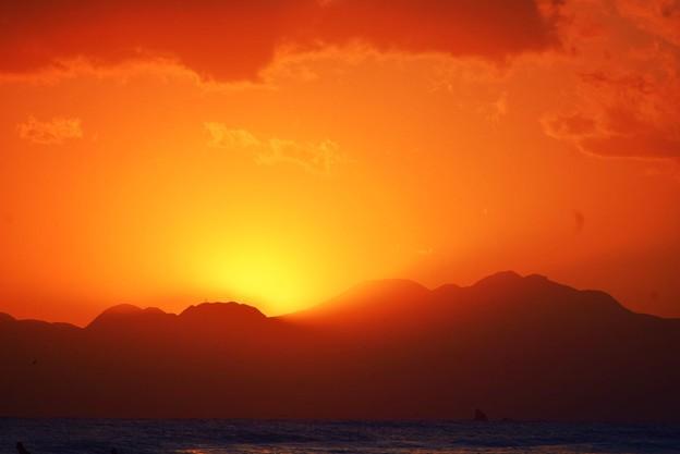日没後の残光@湘南・鵠沼海岸 #湘南 #藤沢 #海 #surfing #wave #mysky