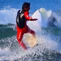 夕方の湘南・鵠沼海岸の波はももから腰サイズ #湘南 #藤沢 #海 #波 #wave #surfing #mysky